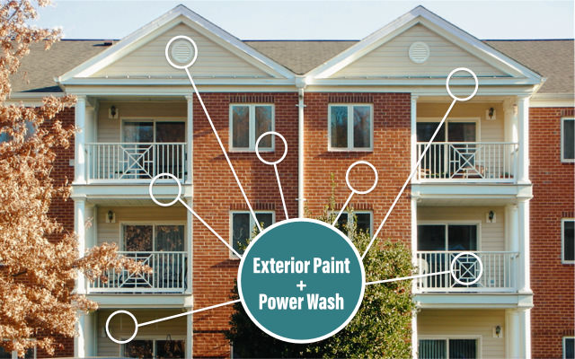 Chesterfield Apartment Complex With New Exterior Paint Trim