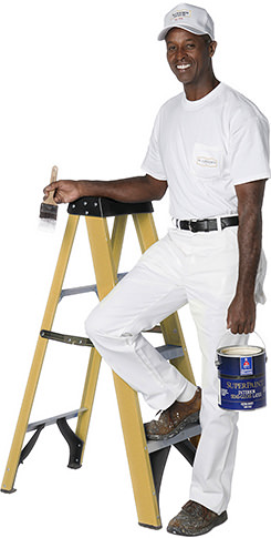 Richmond painter with ladder and paint
