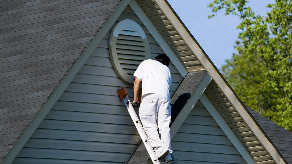We can paint tough to reach places on your house